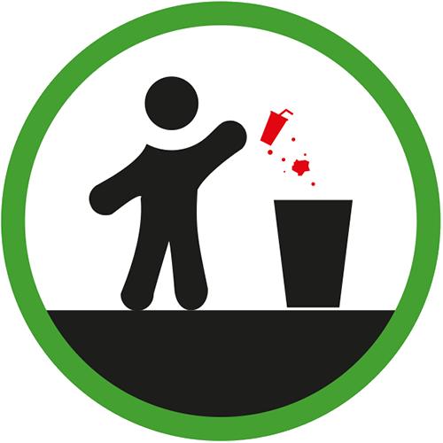 Icon gooi zelf je afval weg
