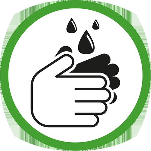 Icon desinfecteerhanden