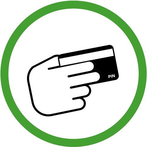 Icon pin betaling